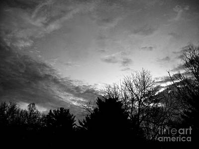 Frank J Casella Royalty-Free and Rights-Managed Images - Good Day Promise Sunrise - Black and White by Frank J Casella