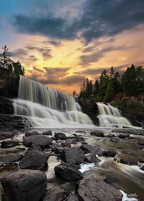 Photograph - Gooseberry Falls Sunset by Joe Polecheck