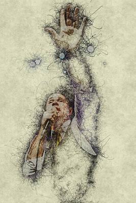 Digital Art - Gord Downie Tragically Hip by Thomas Leparskas