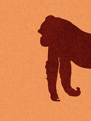 Royalty-Free and Rights-Managed Images - Gorilla Silhouette - Scandinavian Nursery Decor - Animal Friends - For Kids Room - Minimal by Studio Grafiikka