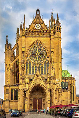 Classic Golf - Gothic Cathedral in Metz, France by Elvira Peretsman
