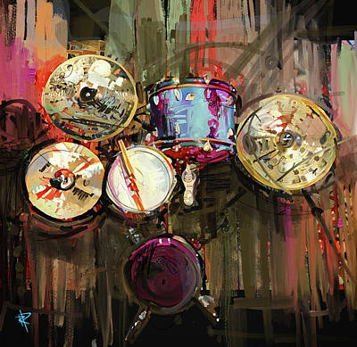 Music Mixed Media - Grab Your Sticks by Russell Pierce