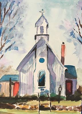 Susan Elizabeth Jones Royalty-Free and Rights-Managed Images - Grace Episcopal Church by Susan Elizabeth Jones
