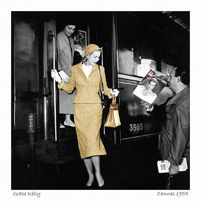 Comedian Drawings Rights Managed Images - Grace Kelly 1 Royalty-Free Image by Andrew Fare