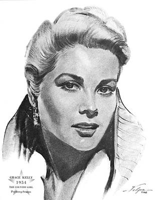 Drawings Royalty Free Images - Grace Kelly by Volpe Royalty-Free Image by Stars on Art