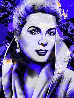 Train Paintings Rights Managed Images - Grace Kelly Royalty-Free Image by Stars on Art