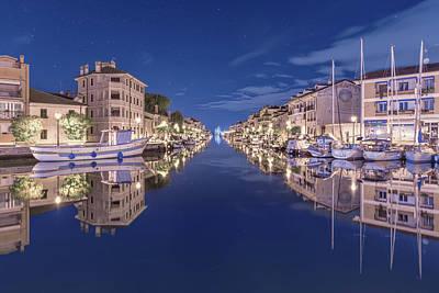 Photograph - Grado Marina At Night by Videophotoart Com