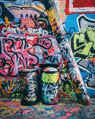 Lovely Lavender - Graffiti Alley, Baltimore 01 by Jon Bilous
