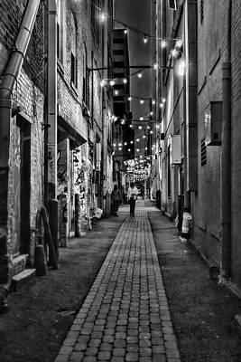 Photograph - Graffiti Alley Black and White by Sharon Popek