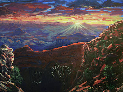 World War Two Production Posters - Grand Canyon Sunrise by Chance Kafka