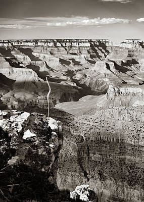 Giuseppe Cristiano Royalty Free Images - Grand Canyon Sunset Shadows - Arizona Sepia Royalty-Free Image by Gregory Ballos