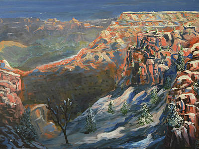 Painting Rights Managed Images - Grand Canyon Winter Royalty-Free Image by Chance Kafka