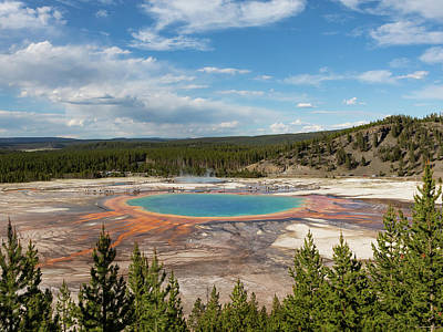 Farmhouse Royalty Free Images - Grand Prismatic Spring Royalty-Free Image by James Marvin Phelps