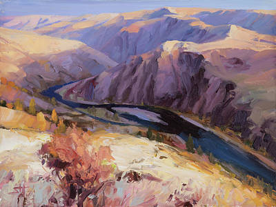 Farmhouse Rights Managed Images - Grand Ronde River Gorge Royalty-Free Image by Steve Henderson