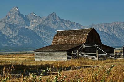 Bringing The Outdoors In - Grand Tetons Mormon Row Barn #7 by Robert Mollett