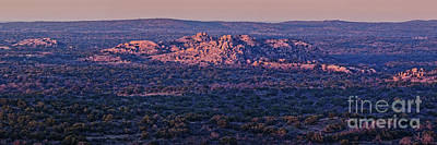 The Champagne Collection - Granite Outcrops of Llano County from the Top of Enchanted Rock - Fredericksburg Texas Hill Country by Silvio Ligutti