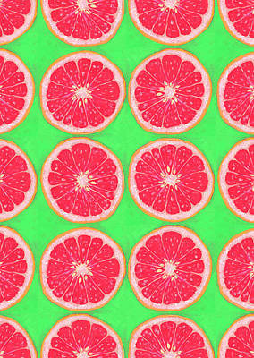 Royalty-Free and Rights-Managed Images - Grapefruits in Lime by Jennifer Lommers