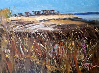 Painting - Grass by Ron Wilson