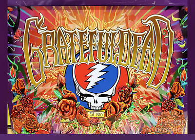 Still Life Royalty-Free and Rights-Managed Images - Grateful Dead Poster Art by Diann Fisher