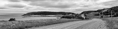 Achieving - Gravel road on Cape Breton Island - monochrome by Murray Rudd
