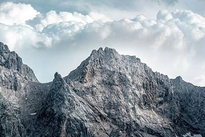 Royalty-Free and Rights-Managed Images - gray mountain - Wettersteingebirge, Garmisch-Partenkirchen, Germany by Julien