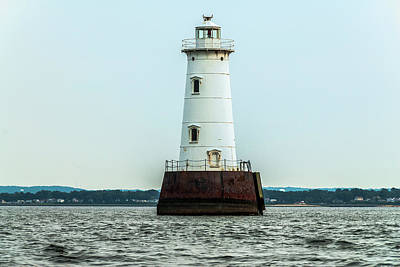 Photograph - Great Beds Lighthouse, New Jersey  by Louis Dallara