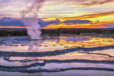 Royalty-Free and Rights-Managed Images - Great Geyser Sunset by Darren White
