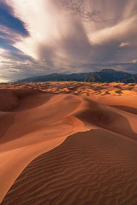 Scifi Portrait Collection - Great Sand Dunes - sunset at High Dune by Murray Rudd
