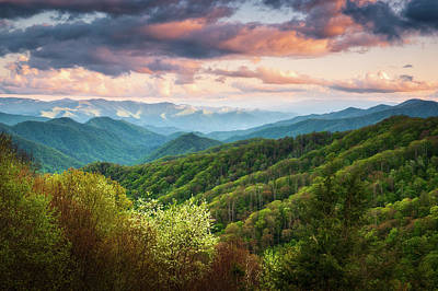 Michael Jackson - Great Smoky Mountains National Park Scenic Landscape Cherokee NC by Dave Allen