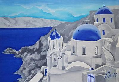 Bicycle Patents - Greek Island View by Loraine Yaffe