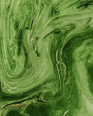 Royalty-Free and Rights-Managed Images - Green Agate And Marble Watercolor Stone Collection VI by Irina Sztukowski