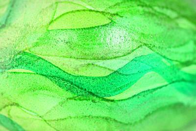 Royalty-Free and Rights-Managed Images - Green and Gold Handpainted Egg by Iris Richardson