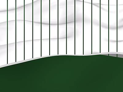 Sports Royalty-Free and Rights-Managed Images - Green and white sportive lines of baseball fashion. by Alberto RuiZ