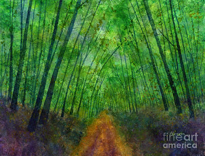 Popstar And Musician Paintings - Green Archway by Hailey E Herrera