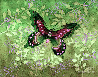 Royalty-Free and Rights-Managed Images - Green Butterfly by Hailey E Herrera