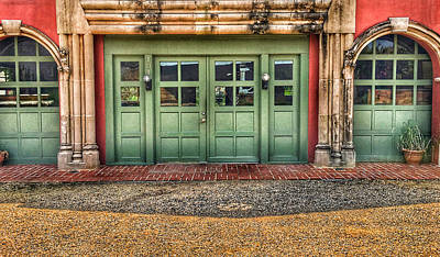 Just Desserts Rights Managed Images - Green Doors in Gordonsville Royalty-Free Image by Anthony M Davis