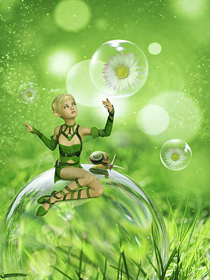Royalty-Free and Rights-Managed Images - Green fairy by Mihaela Pater