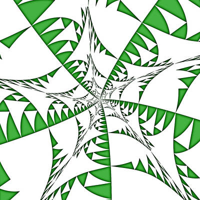 Digital Art - Green Flags by Mediamerge - Dan Roitner