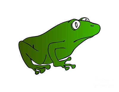 Drawings Royalty Free Images - Green Frog Royalty-Free Image by Michal Boubin