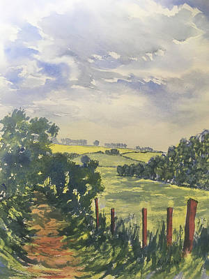 Painting - Green Lane off Fordon Road by Glenn Marshall