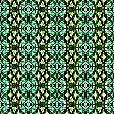 David Bowie Royalty Free Images - Green Pattern 2 Royalty-Free Image by Leigh Smith