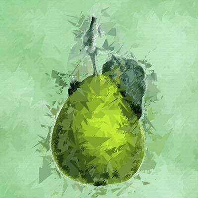 Staff Picks Cortney Herron - Green Pear Abstract Fruit Pane 5 by David Dehner