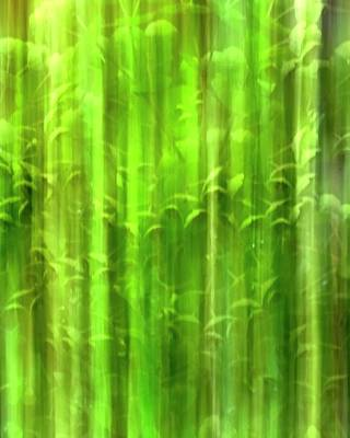 Jerry Sodorff Royalty-Free and Rights-Managed Images - Green Stems ICM by Jerry Sodorff