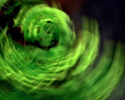 Jerry Sodorff Royalty-Free and Rights-Managed Images - Green Swirl ICM by Jerry Sodorff