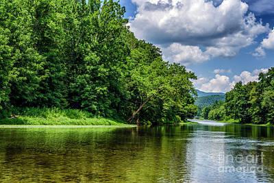 Thomas Kinkade - Greenbrier River on a Summer Day by Thomas R Fletcher