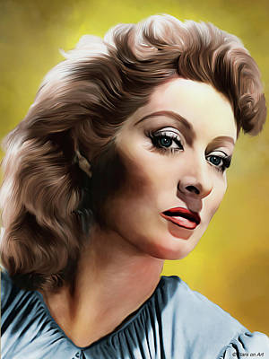 Royalty-Free and Rights-Managed Images - Greer Garson illustration by Stars on Art