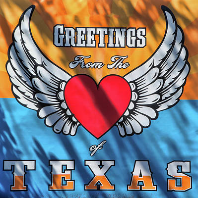 Spot Of Tea Royalty Free Images - Greetings From the Heart of Texas Royalty-Free Image by Allen Beatty