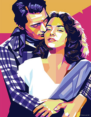 Royalty-Free and Rights-Managed Images - Gregory Peck and Jennifer Jones by Stars on Art