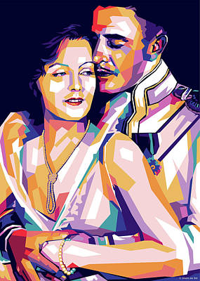 Royalty-Free and Rights-Managed Images - Greta Garbo and John Gilbert 1927 by Stars on Art