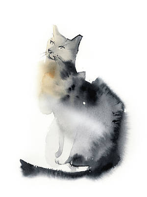 School Teaching - Grey cat  by Sophia Rodionov